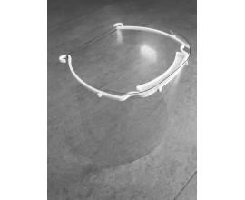 Visière de protection transparente avec élastique
